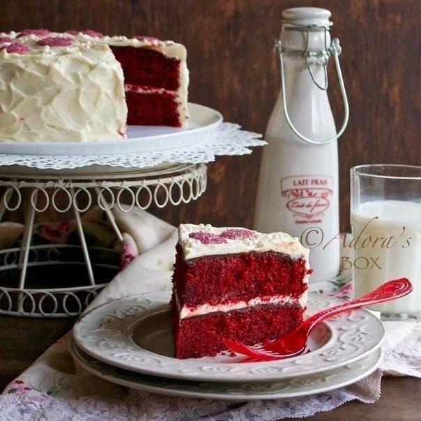 """Торт """"Красный бархат"""" (без красителей). Время приготовления: 60"""