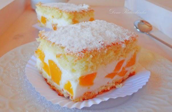 Торт с нежнейшим кремом из творога, взбитых