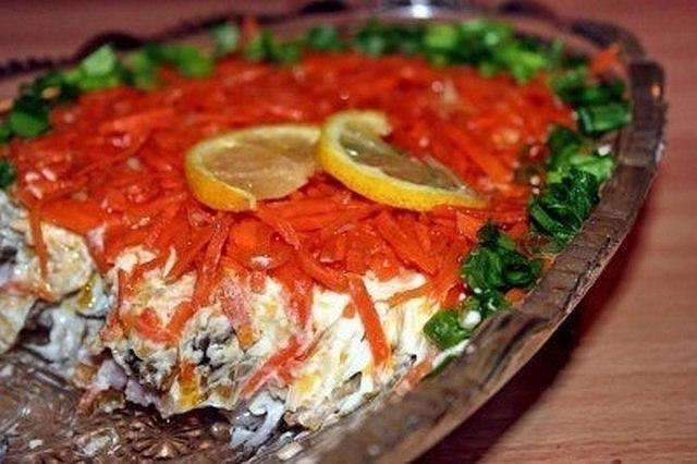 """Салат """"Оригинальный"""" 300 г вареного мяса или птицы"""