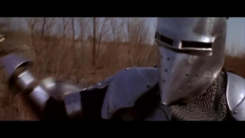 Легенда о сэре Гавейне и Зелёном рыцаре (1984). Поединок Гавейна и Черного рыцаря