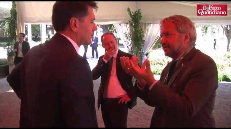 Limpavido Claudio Borghi spiega a Davide Serra... missionimpossible - Cernobbio 2017