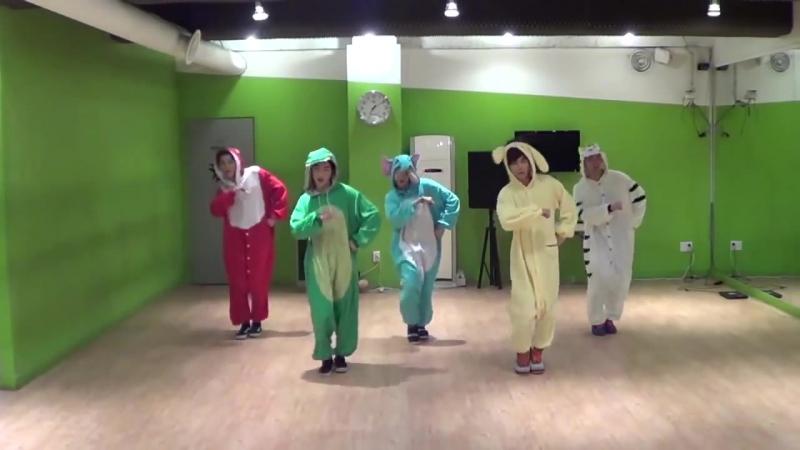 NUEST [뉴이스트] Sleep Talking [잠꼬대] 안무연습영상 Animal ver. (dance practice)