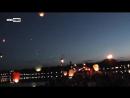 Донецк. В память о погибших детях Донбасса в небо выпустили сотни горящих фонариков
