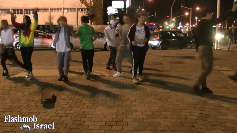 Flashmob Israel Tel Aviv Azrieli towers עזריאלי