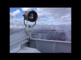 Море на краю Плоской Земли начинает закипать испаряться и плавно переходить в облачное небо