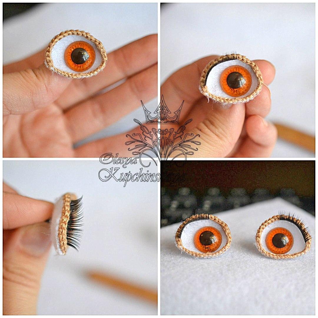 Как связать глазки своими руками