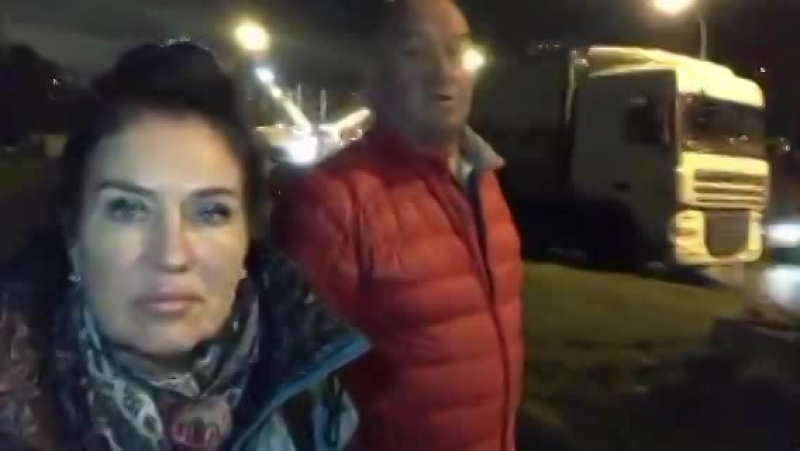 Татьяна и Александр Африкантовы 12.10.2017. Направляемся к дому..ищем вдовца