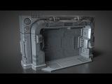 Modeling a Scifi Blast Door - Outer frame - 002 Outer Frame Part A