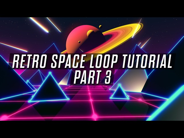 Looped Retro Space Scene Tutorial - Part 3 - Compositing in After Effects.