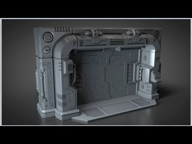 Modeling a Scifi Blast Door - Outer frame - 001 Introduction