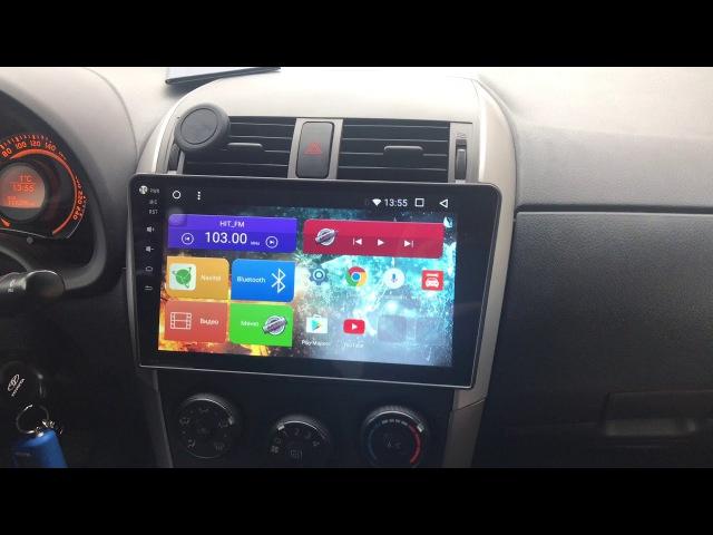Обзор Автомагнитолы MegaZvuk T3-1063 Toyota Corolla X (E140 / E150) (2006-2013) на Android 6.0.1