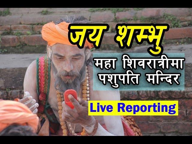 Shiva Ratri 2073 Special Live Reporting by Pashupati Mandir Kathmandu || शिवरात्रीमा पशुपतिमा यस्तो