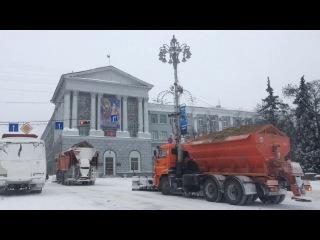 Снегоуборочная техника в Курске не справляется с рождественскими осадками