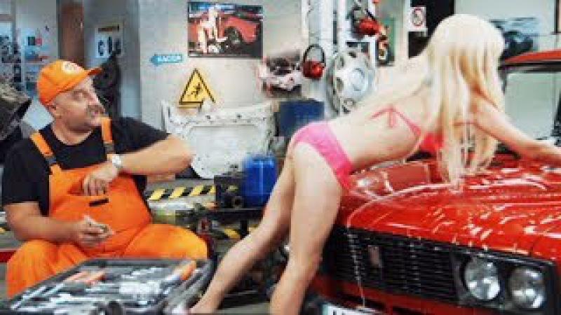 Приколы про девушек в автосервисе: тупая блондинка на СТО - НА ТРОИХ лучшее ДИЗЕЛЬ ШОУ | ЮМОР ICTV