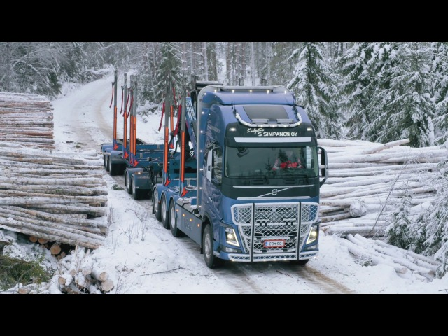 Volvo Trucks  Hauling timber through Finland's frozen forests Meet our customer Simpanen Oy