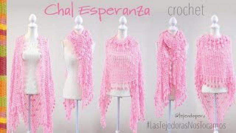 Chal Esperanza tejido a crochet Tejiendo Perú