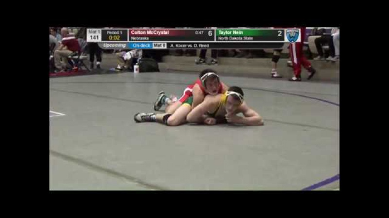 Colton McCrystal (Nebraska) vs Taylor Nein (North Dakota State) - 141lbs Midlands