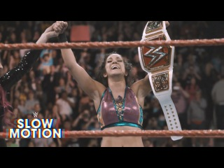 Spectacular slow-motion video of Bayley's Raw Women's Championship victory: Exclusive, Feb. 14, 2017