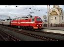 Прибытие ЭП2К-082 с фирменным поездом Южный Урал №014Е Москва — Челябинск