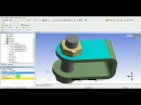 6 ANSYS Workbench Tutorial Video Bolt Pretension Contact Non Linear FE Analysis