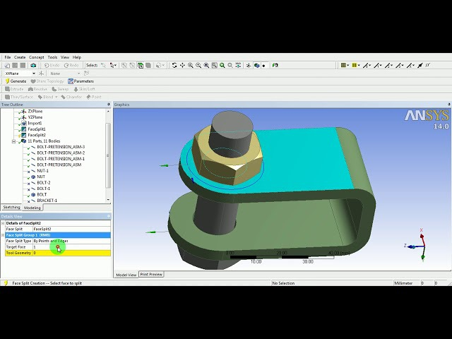 6. ANSYS Workbench Tutorial Video Bolt Pretension Contact Non Linear FE Analysis