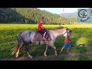 Дети и машина верхом на лошади горное озеро Путешествие на горный Алтай Часть 2