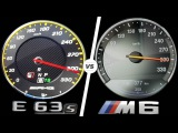 Mercedes E63 AMG 2017 vs BMW M6 2017 ACCELERATION TOP SPEED 0-300kmh AUTOBAHN POV by AutoTopNL