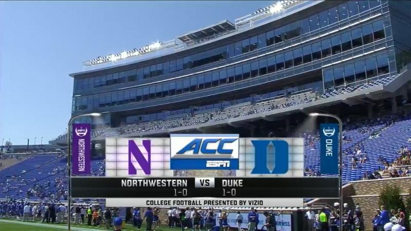 NCAAF 2017 Week 02 Northwestern Wildcats Duke Blue Devils 09 09 2017 EN