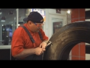 Ремонт бокового пореза грузовой шины материалами ROSSVIK