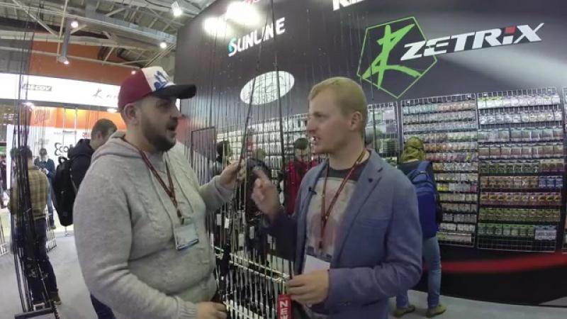 Андрей Питерцов о новых Aspro. Zetrix Azura - крутые, бюджетные спиннинги! Выставка 2017.