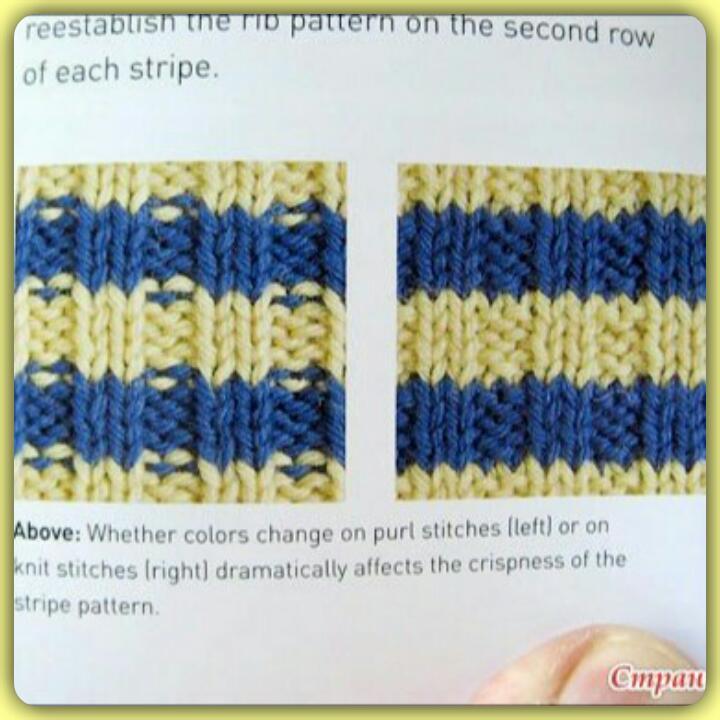 Как перейти с одного цвета на другой при вязании спицами 82