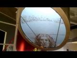 Демонстрация видеоэкрана в Музее Бронетанковой техники в Прохоровке. Экран круглой формы. Диаметр Экрана 2 метра, высота подвесн