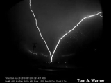Upward Lightning in Rapid City, South Dakota