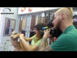 ТК Мир снимает репортаж о наращивании волос в салоне Hairshop на Тверской-Ямской