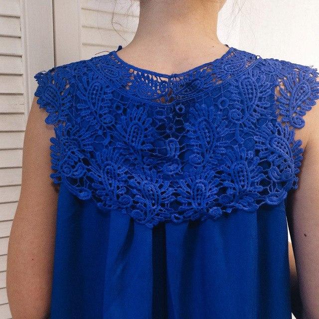 Блузка с кружевом невероятно красивого синего цвета за 640 р из магазина blooming jelly Official Store