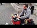 Massimo Tortella busking in London Porca Pizza
