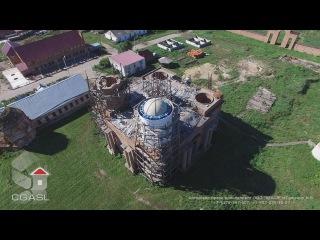 Аэросъемка Петропавловского епархиального мужского монастыря (Раненбургская П...