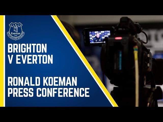 KOEMAN PRE-BRIGHTON PRESS CONFERENCE