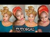 Turban & African Print Headwrap Tutorial   TheDIYLady