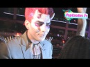 Adam Lambert as a Rock Roll Glam Devil arriving to Halloween Party at Bootsy Bellows WeHo