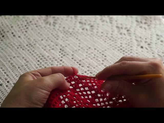 Филейная туника ( вязание рукава) часть 4 (crochet fillet lace)