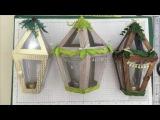 Gorgeous Christmas Table Lantern Tutorial Stampin Up Wooden Look Various Sizes Tea Light Decoration