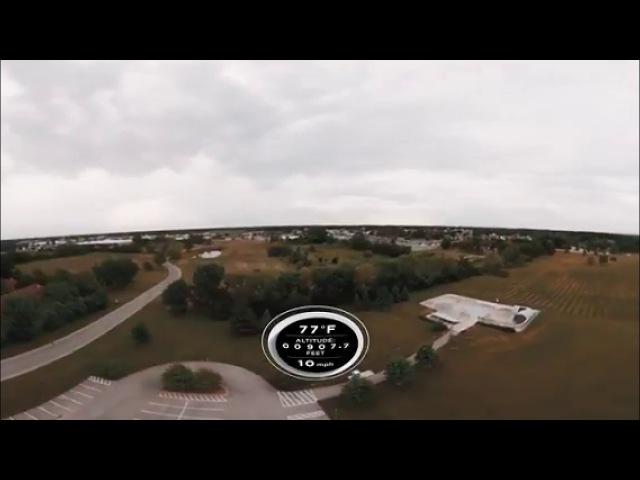 Плоская земля: Видео 360° на высоте 43 КМ. Плоский горизонт. 2