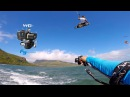 Kitesurfing with waterproof gimbal FeiyuTech WG2