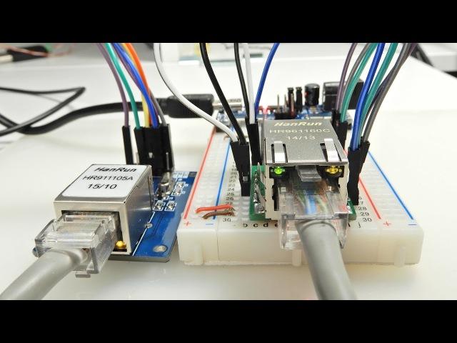 Ethernet для МК. W5500 и ENC28J60. MQTT