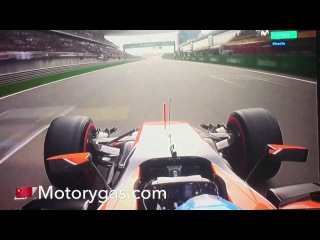 Alonso Q2 onboard China 2017 McLaren Honda F1 2017