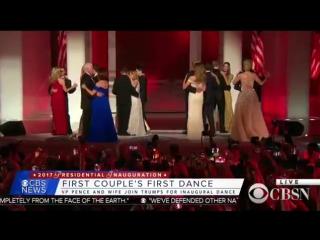 Танец президента и первой леди