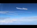 Одновременный пуск восьми ракет с 4 истребителей Су-27  класса «воздух-воздух».