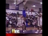 A young Rajon Rondo with one of the most disrespectful high school dunks ever