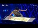 Awesome sand art live performance at Portugal TV by Kseniya Simonova devoted to Salvador Sobral